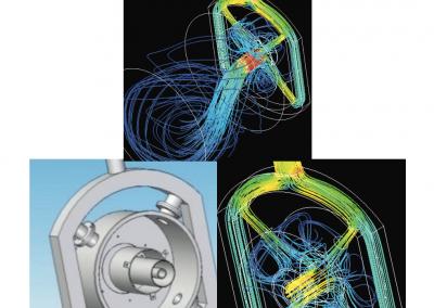 Análisis de flujo en una cámara de combustión